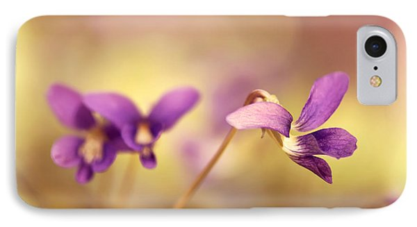 The Secret World Of Wild Violets Phone Case by Lois Bryan