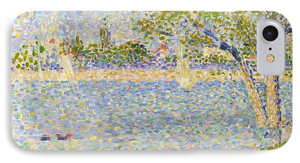 The Seine Seen From La Grande Jatte IPhone Case by Georges Seurat