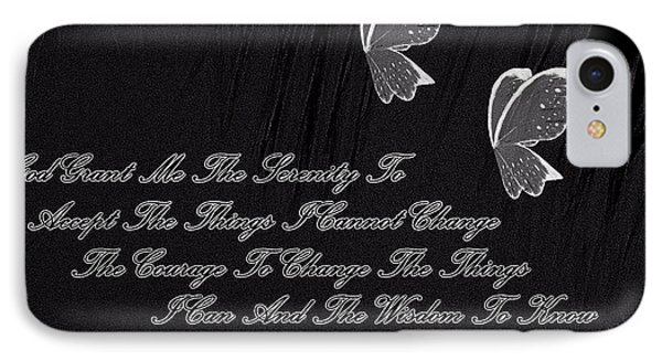 IPhone Case featuring the digital art The Serenity Prayer by Sherri  Of Palm Springs