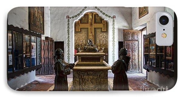 The Serra Cenotaph In Carmel Mission IPhone Case