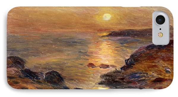 The Setting Of The Sun At Douarnenez61 IPhone Case by Pierre Auguste Renoir