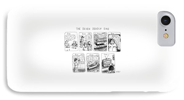The Seven Deadly Sins IPhone Case by Roz Chast