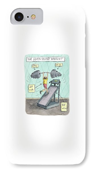 The Seven Second Workout IPhone Case by Roz Chast