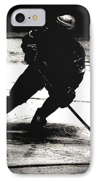 The Shadows Of Hockey Phone Case by Karol Livote