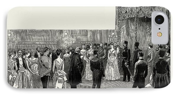 The Shah Of Persia In England, Uk, 1889 The Ball IPhone Case by Litz Collection