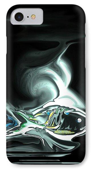 IPhone Case featuring the digital art The Shark by Steve Godleski
