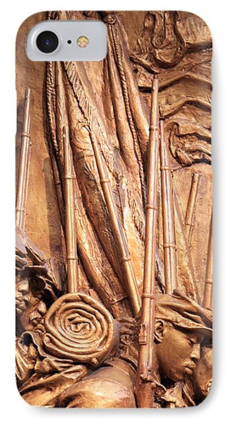 Saint Gaudens -- The Shaw Memorial's Left Side IPhone Case by Cora Wandel