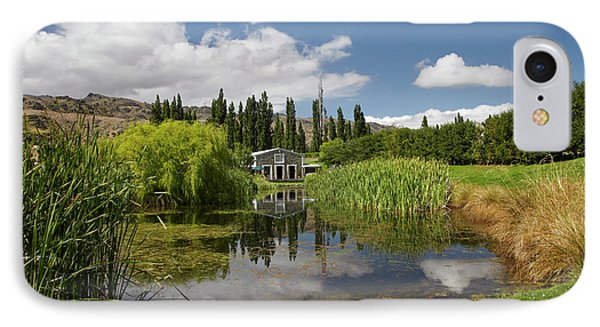 The Shed And Pond, Northburn Vineyard IPhone Case by David Wall