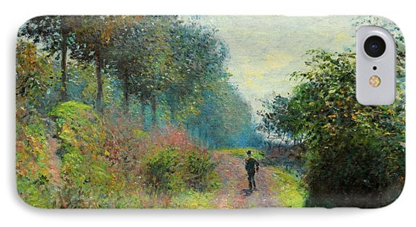 The Sheltered Path IPhone Case by Claude Monet
