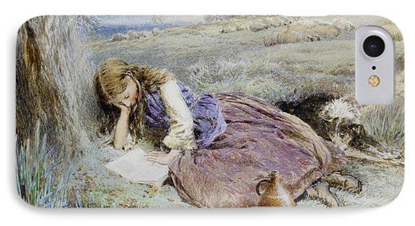 The Shepherdess IPhone Case by Myles Birket Foster