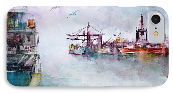 IPhone Case featuring the painting The Ship At Harbor Entrance by Faruk Koksal