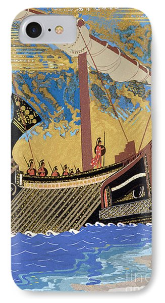 The Ship Of Odysseus IPhone Case by Francois-Louis Schmied