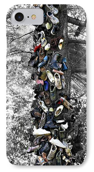 IPhone Case featuring the photograph The Shoe Tree by Lila Fisher-Wenzel
