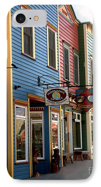 The Shops In Crested Butte IPhone Case by RC DeWinter