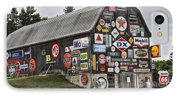 IPhone 7 Case featuring the photograph The Sign Barn by Ricky L Jones