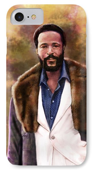 The Silky Silky Soul Singer - Marvin Gaye  Phone Case by Reggie Duffie