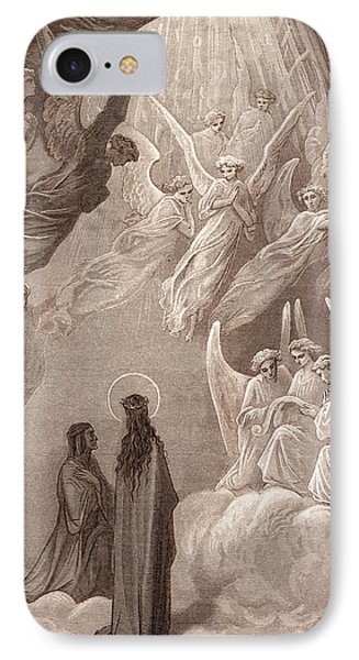 The Singing Of The Blessed In The Sixth Heaven IPhone Case by Gustave Dore