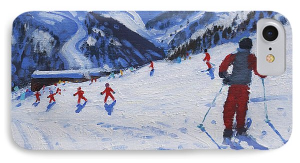 The Ski Instructor Phone Case by Andrew Macara