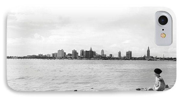 The Skyline Of Miami IPhone Case by Underwood Archives