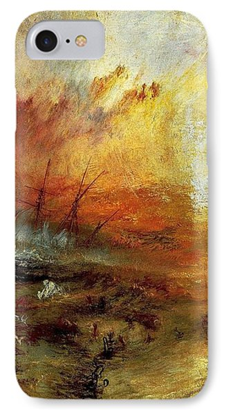 The Slave Ship Phone Case by J M W Turner