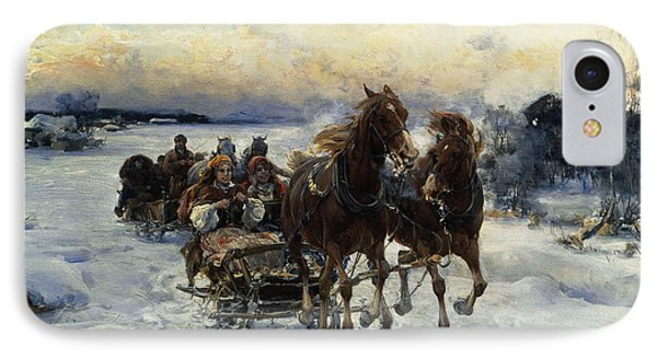 The Sleigh Ride IPhone Case