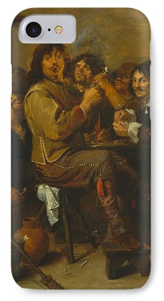 The Smokers IPhone Case by Adriaen Brouwer