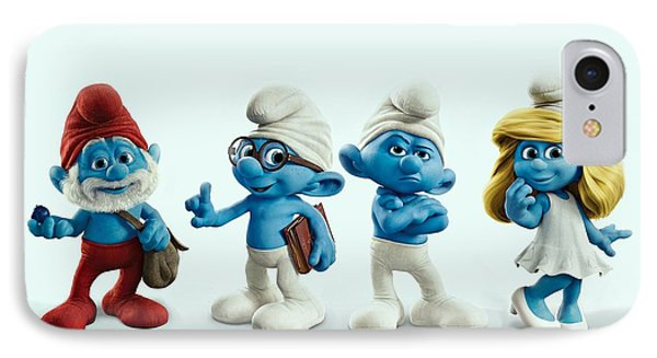 The Smurfs Movie IPhone Case by Movie Poster Prints