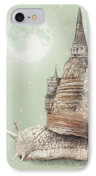 The Snail's Dream IPhone Case by Eric Fan