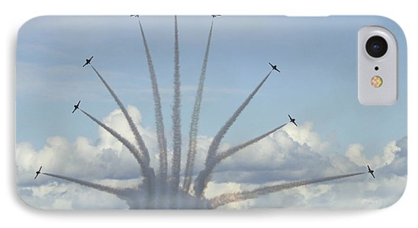 The Snowbirds In High Gear Phone Case by Bob Christopher