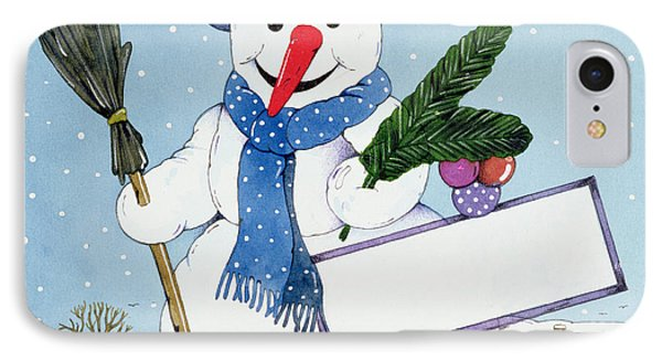 The Snowman IPhone Case by Christian Kaempf