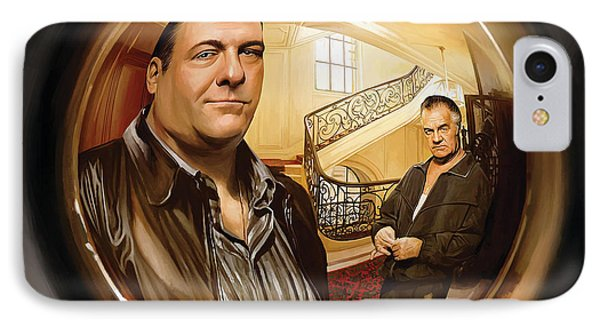 IPhone Case featuring the painting The Sopranos  Artwork 1 by Sheraz A
