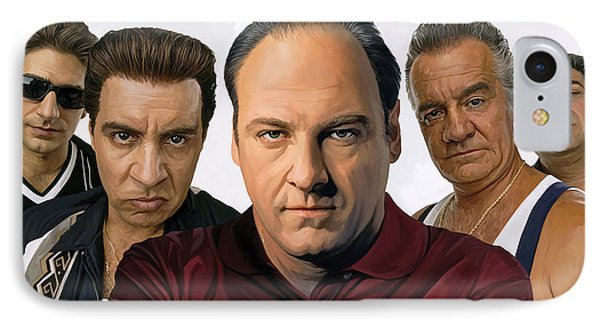 IPhone Case featuring the painting The Sopranos  Artwork 2 by Sheraz A