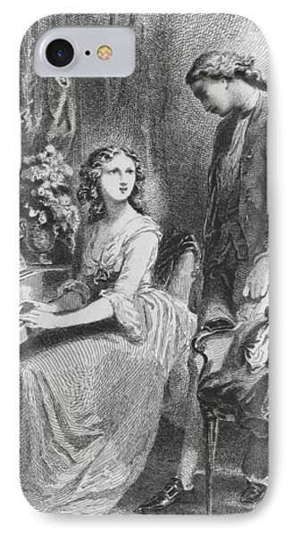 The Sorrows Of Werther IPhone Case by Tony Johannot