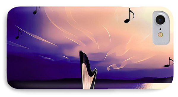 The Sounds Of Sunset IPhone Case by Eddie Eastwood