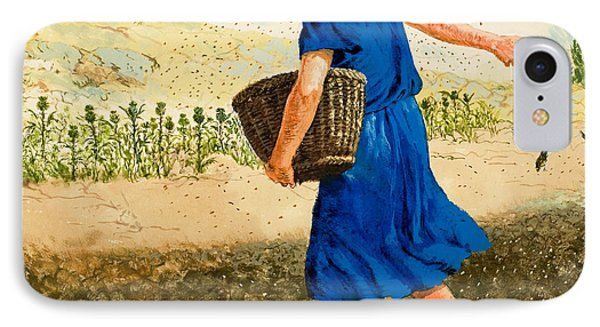 The Sower Of The Seed IPhone Case by Clive Uptton