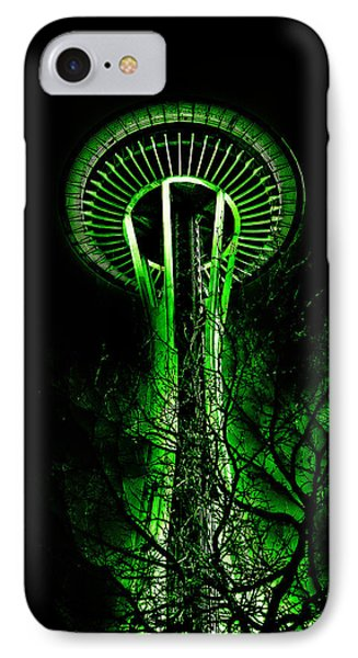 The Space Needle In The Emerald City II IPhone Case by David Patterson