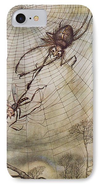 The Spider And The Fly IPhone 7 Case by Arthur Rackham