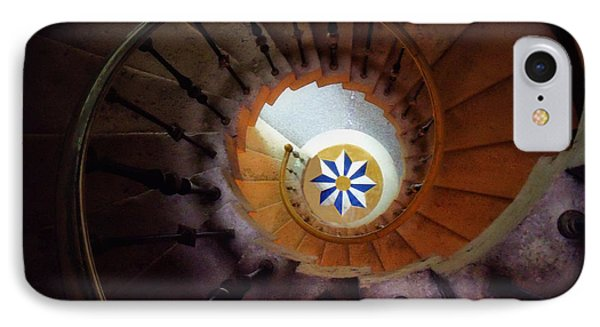 The Spiral Staircase Of Villa Vizcaya Phone Case by Mike Nellums