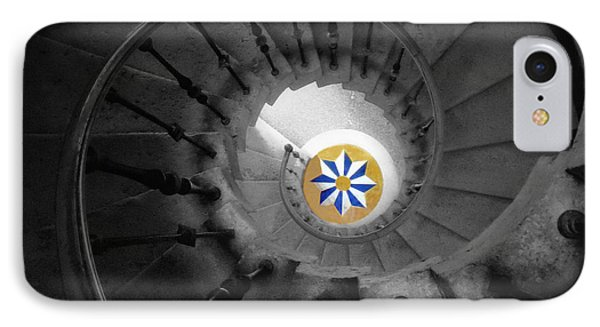 The Spiral Staircase Of Villa Vizcaya Bwcolor Phone Case by Mike Nellums