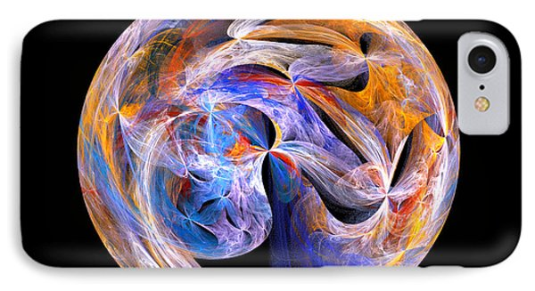 IPhone Case featuring the digital art The Spirit At Creation by R Thomas Brass