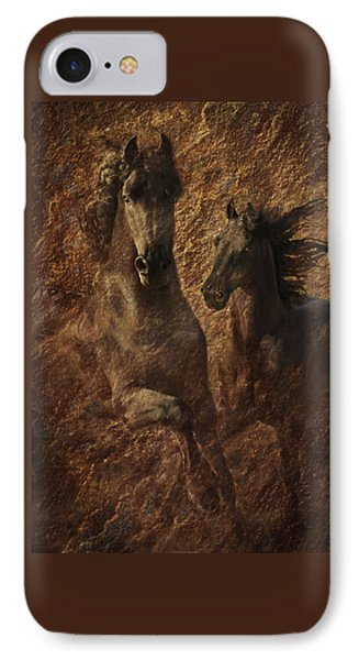 The Spirit Of Black Sterling IPhone Case by Melinda Hughes-Berland
