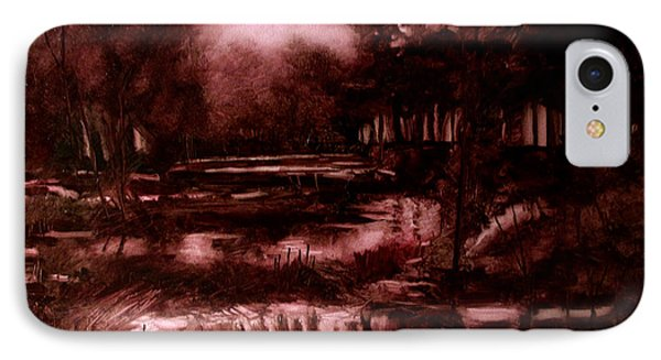 The Spring Eel Flooding Or Red And Green Don't Make Brown Phone Case by Charlie Spear