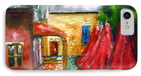 IPhone Case featuring the painting The Stables Arrowtown - Original Sold by Therese Alcorn