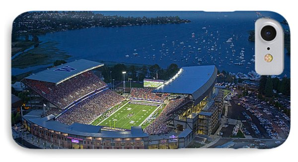 Husky Stadium And The Lake IPhone Case by Max Waugh