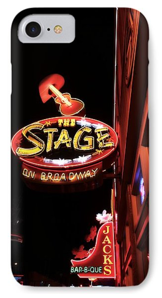 The Stage On Broadway In Nashville Phone Case by Dan Sproul