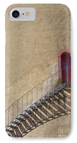 The Staircase To The Red Door Phone Case by Heiko Koehrer-Wagner