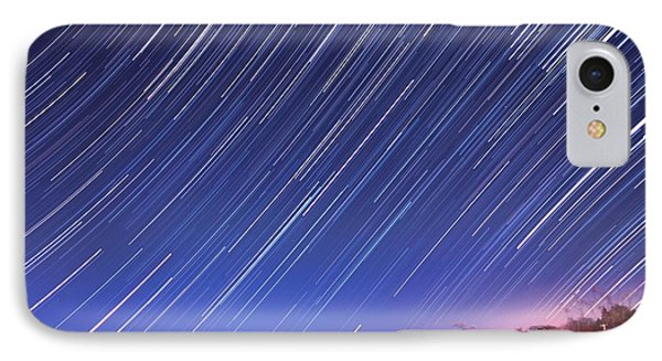 The Star Trail In Ithaca Phone Case by Paul Ge