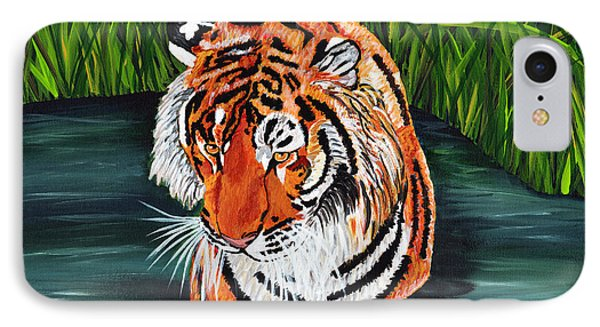IPhone Case featuring the painting The Stare by Laura Forde