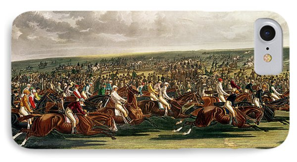 The Start Of The Memorable Derby Of 1844 Phone Case by Charles Hunt