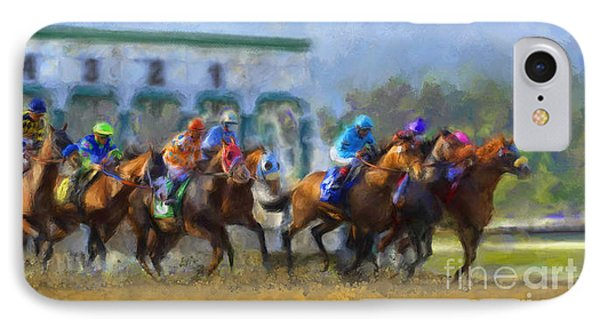 The Starting Gate IPhone Case by Andrea Auletta